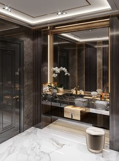 Laconic luxury on Behance Wc Design, Toilet Design, Dream Bathrooms, Beautiful Bathrooms, Luxury Interior, Home Interior Design, Bathroom Design Luxury, Luxurious Bedrooms, Bathroom Inspiration