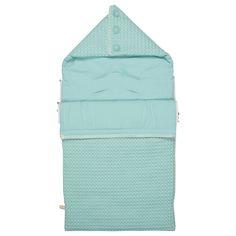 Baby sleeping bag waffle/flannel Antwerp (mint) | Koeka webshop