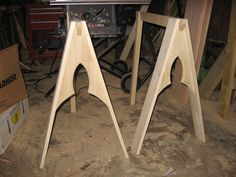 My specialty, trestle tables.