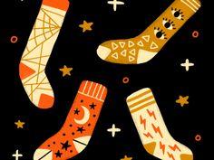 Simple Illustration, Pattern Illustration, Kids Patterns, Print Patterns, Panda Socks, Designer Socks, Cool Socks, 3d Design, Art For Kids