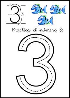 lectoescritura de numeros el 3 ficha 0
