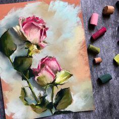 Rose Drawing Buy Roses, Pastel drawing by Sophie Rodionov on Artfinder. Chalk Pastel Art, Soft Pastel Art, Pastel Flowers, Chalk Pastels, Soft Pastels, Draw Flowers, Pastel Pink, Realistic Rose, Realistic Drawings