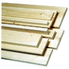 Planche de pin blanc noueux 1 po x 8 po x 4 pi