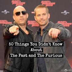50 Things You Didn't Know About The Fast and The Furious