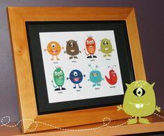 Little Monster Printable Art 8 x 10 Art. $7.95, via Etsy.
