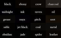 A 'Color Thesaurus' Documents The Many Different Names Of Similar Hues http://plx.io/hdC
