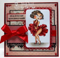 Card for Kraftin' Kimmie Stamps Challenge 202 featuring Marilyn