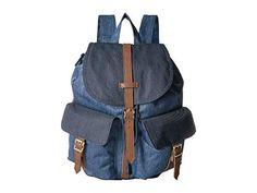 HERSCHEL SUPPLY CO. , FADED DENIM/INDIGO DENIM. #herschelsupplyco. #bags #leather #denim #nylon #backpacks