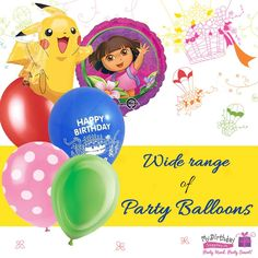 Decorate your room with our #PartyBalloons for #KidsPartyBalloons Celebrations!   #Balloons #MyBirthdaySupplies
