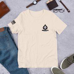 B Company 4/9 Infantry Short-Sleeve Unisex T-Shirt - Soft Cream / M