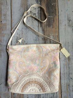 Vintage Valerie Barad Neon Paisley + Lace Floral Messenger Bag // Laptop Bag on Etsy, $30.00