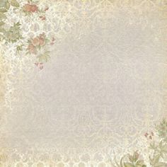 Roses on corners with lacy grey background