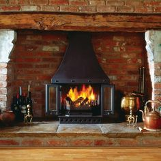 This is the wood burner we've ordered to go in the new inglenook fireplace in the dining room!
