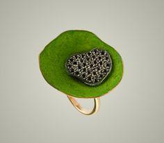Lina Fanourakis, Greece, gold, green paint, black diamonds