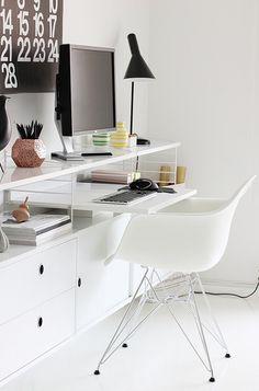 #String shelf * Tom Dixon #Etch * #Eames chair * Louis Poulsen lamp