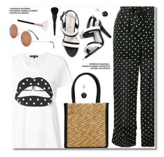 """Polka Dots"" by paculi ❤ liked on Polyvore featuring Ganni, Markus Lupfer, Oscar de la Renta and PolkaDots"