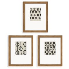 Tribal Pattern is a set of rustic designs, reflecting the simplistic drawings and artwork from another time. Black on white, printed on offset mat and with a frame giving the extra touch, but following the same simplicity in design. 8x10 ready to hang framed pieces for your home or office.