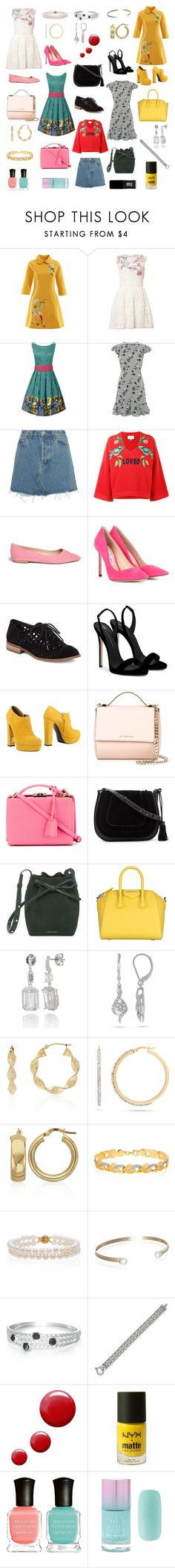 """Birds"" by kathrina1yana2jemma3cloe4 ❤ liked on Polyvore featuring RED Valentino, Oasis, RE/DONE, Gucci, Sam Edelman, Jimmy Choo, Jessica Simpson, Giuseppe Zanotti, R&Renzi and Givenchy"