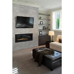 Honed Marble, Marble Wall, Travertine Tile, Home Design, Design Ideas, Slate Wall Tiles, Fireplace Design, Slate Fireplace, Electric Fireplace