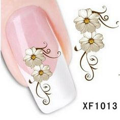 Fashion Water Transfer Flower Design Nail Stickers