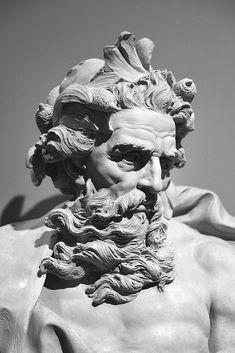 Greek Statues Black And White - - - - - Ancient Greek Sculpture, Greek Statues, Ancient Art, Buddha Statues, Stone Statues, Angel Statues, Zeus Statue, Poseidon Statue, Poseidon Tattoo