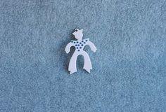Lea Stein Pin Sailor Boy Brooch White Blue by Kissisjustakiss