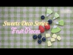 Learn how to make strawberry, blueberry, pineapple, and kiwi pieces with clay. I made these with homemade cold porcelain clay, I air dried them for about 1 d...