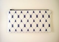 Zipper Pouch, Doctor Who, Dalek, Pencil Pouch, Pen Case, Gadget Bag, Blue and White