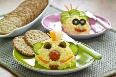 Check out this recipe and have some fun with the kids today by making some funky Egg Salad Creatures for lunch.