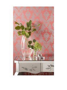 tempaper damask removable wallpaper silvercoral httpwwwmyhabit