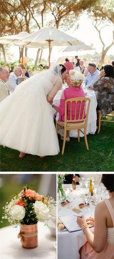Sun-filled Algarve Wedding in Peach