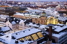 Finland ranked overall and in both entrepreneurship and opportunity as well as safety and security. Helsinki, Times Square, Europe, Mansions, Country, World, House Styles, Building, Travel