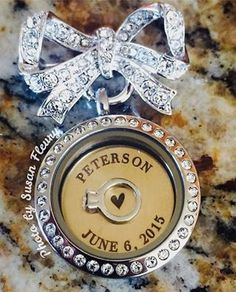 Origami Owl Bridal Bow-quet Living Locket with Custom Inscribed Plate ~ Follow Christie Huck on Facebook at http://locketsbychristie.com/fb