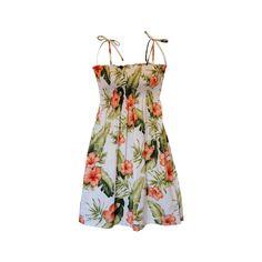 Waimea White Short Hawaiian Smocked Sundress   #sundress #hawaiiandresses #hawaiiandress #hawaiianweddingdress #floraldress #sexyhawaiiandresses #maxidress
