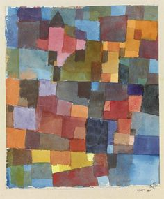Paul Klee (1879-1940), Raumarchitekturen (Auf Kalt-Warm) [Room Architectures (On Cold-Warm)], 1915 (91). Watercolour on paper laid down on the artist's mount. Sheet: 20cm H x 17cm W.