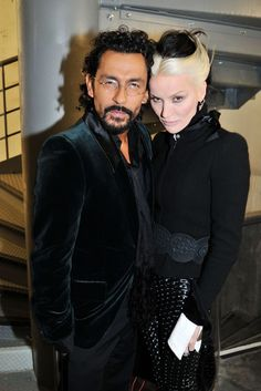 Haider Ackermann and Daphne Guinness at the Chanel Black Jacket Expo in Paris