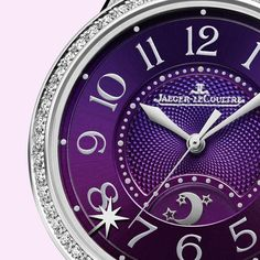 4365ac068eed Sonatina watch with bright amethyst purple dial and white diamond bezel.  See the Jaeger-
