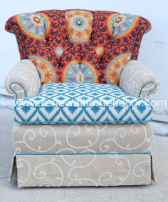 Custom Order  Upholstered Swivel Club Chair by ReNewalHomeDecor