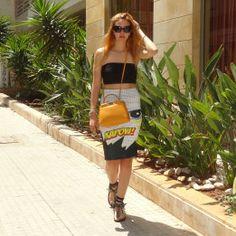 Kapow the language of Comics   #wiwt #ootd #cairo #egypt #fashionblog #fashionblogger #sotd #travel #travelblogger #love #runway #streetstyle #fashion #cool #love #lookbook #beirut #lebanon #dress #colorful #girl #fashion #comic #comics #kapow #art