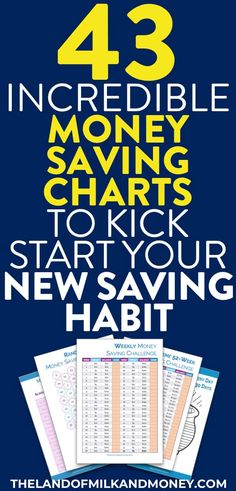 43 Incredible Money Saving Charts To Transform Your Finances In 2019 – Finance tips, saving money, budgeting planner Savings Challenge, Money Saving Challenge, Money Saving Tips, Money Tips, Mo Money, Money Plan, Money Savers, Money Fast, Savings Chart