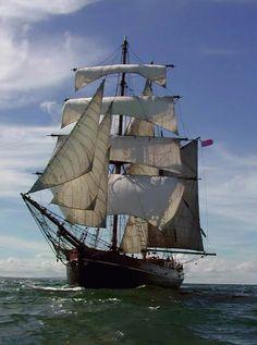 I'll be working on historic brigantine ship Zebu doing maintenance and refitting. Moby Dick, Old Sailing Ships, Full Sail, Sail Away, Submarines, Tall Ships, Catamaran, Water Crafts, Fishing Boats