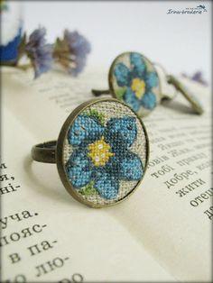 Irina-broderie: Gentiane - La flore alpino