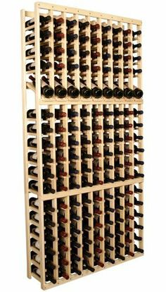 """Wooden 153 Bottle Wine Cellar Rack Storage Kit with Display (Ponderosa Pine) by Wine Racks America®. $410.84. Ships Free Today. Dimensions: 77 1/8""""(h) x 38 3/8""""(w) x 10 1/2""""(d). Proudly Made in the USA. Lifetime Warranty.. Capacity: 153 Wine Bottles and Fits all 750ml Bottles. Constructed of Furniture Grade Ponderosa Pine. Simple Assembly May be Required. We select from the highest grade materials available. Completely solid assembly retains strength while displaying 9 of your ..."""