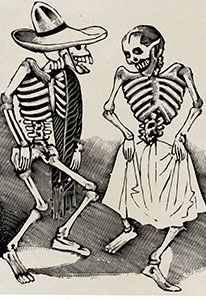 """Dancing Skeletons"" by Jose Guadalupe Posada"