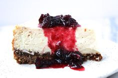 ... Cheesecake with Gingersnap Crust and Maple Cranberry Compote