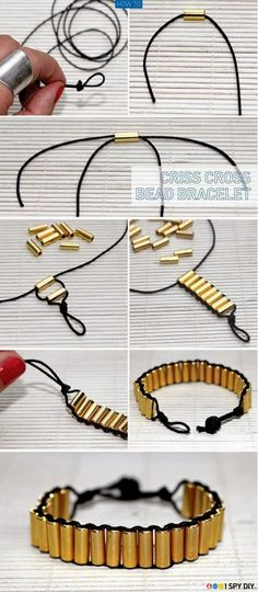 Make a Criss Cross Bead Bracelet