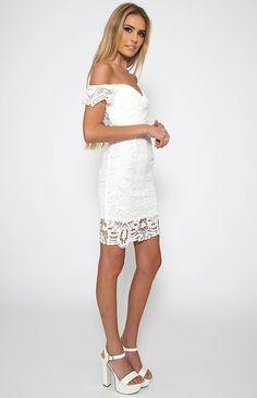 Retro Time Dress - White