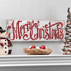 Greet your house guests with Christmas spirit this holiday season! Browse Kirkland's festive wall decor to find a match for your home's style. Items like this cream, wooden wall plaque add holiday flair that looks straight out of the North Pole!