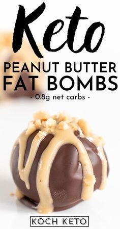 Low Carb Sweets, Low Carb Desserts, Low Carb Recipes, Peanut Butter Fat Bombs, Low Carb Peanut Butter, Keto Dessert Easy, Dessert Recipes, Healthy Low Calorie Dinner, Chocolate Fat Bombs
