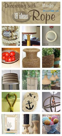 decorating with rope ideas, design d cor, repurposing upcycling
